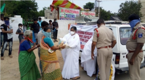 BK Shailaja and the BK Family distributed food essentials to the poor and needy