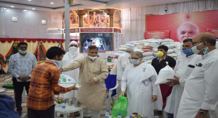 Brahma Kumaris Jammu Distributed Free Ration To Needy