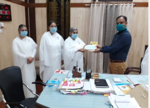 Donation for Covid-19 Relief Fund by Brahma Kumaris, Kurukshetra