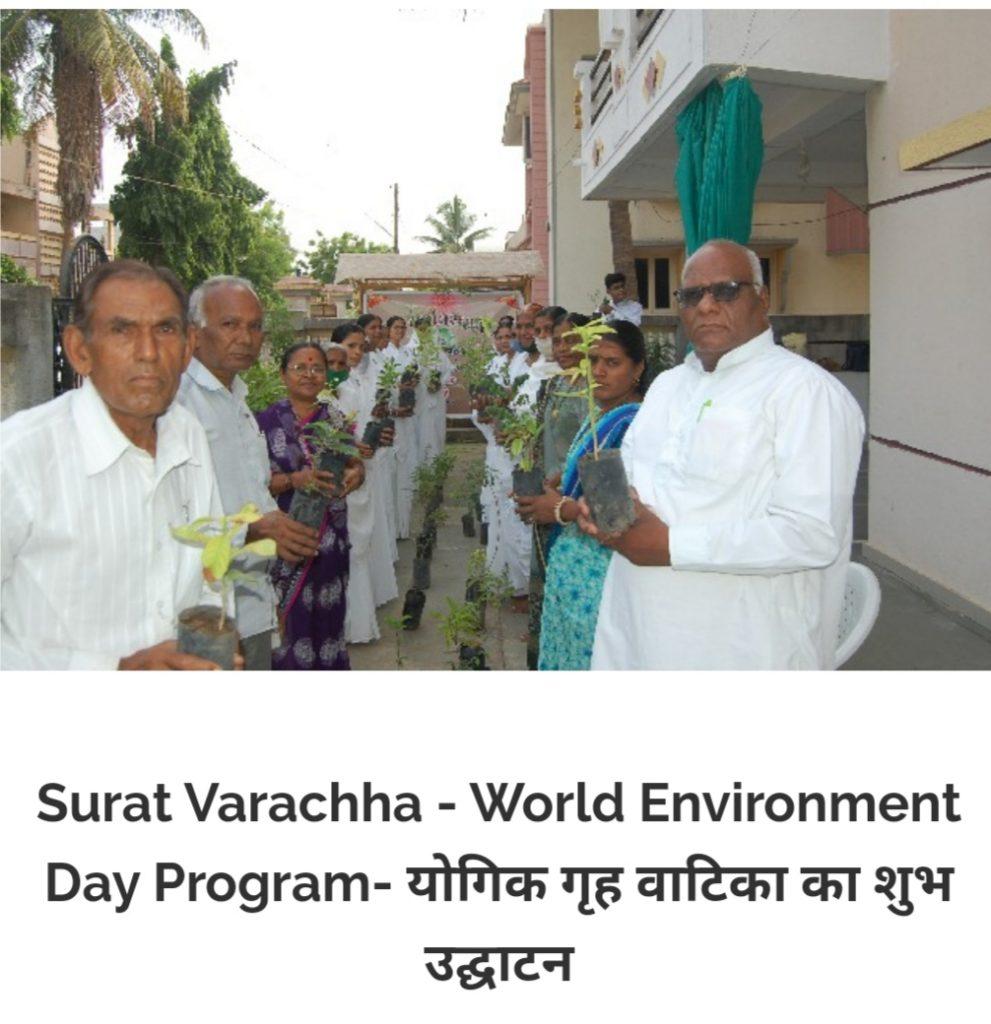 विश्व पर्यावरण दिवस के अवसर पर यौगिक गृह वाटिका का उद्घाटन